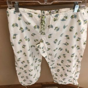Capri drawstring pajama pant